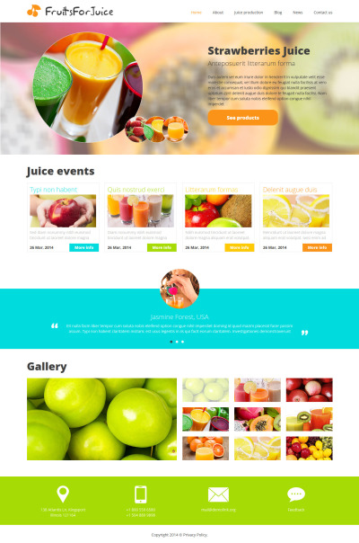 Food & Drink Responsive Joomla šablona