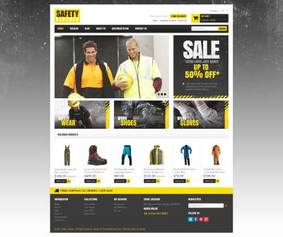 Security Responsive Shopify Sablon