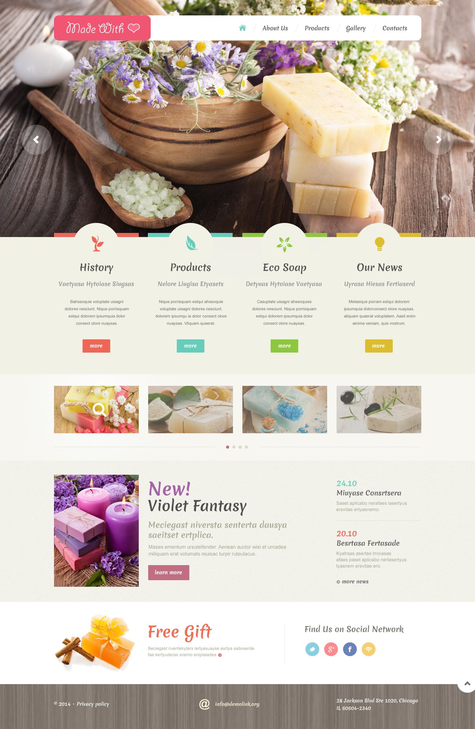 Reszponzív Iparművészeti Weboldal sablon 48988 - képernyőkép