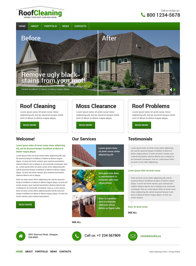 Roofing Company Drupal Template New Screenshots BIG