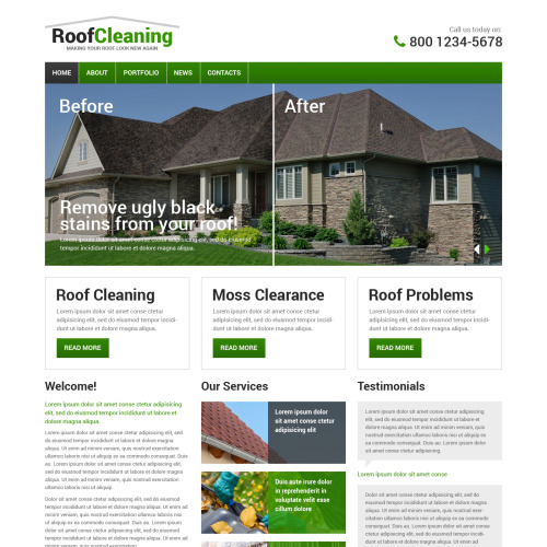 Roof Cleaning - HTML5 Drupal Template