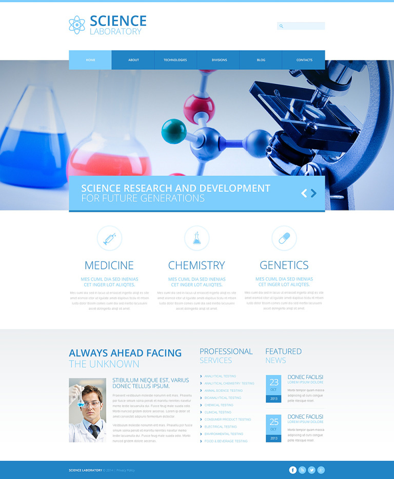 Science Lab Responsive Joomla Template New Screenshots BIG