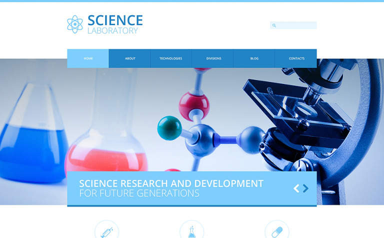 Science Lab Responsive Joomla Template #48964