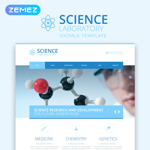 Science Laboratory - Joomla! Template based on Bootstrap