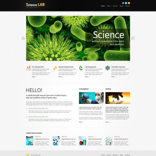 Science Lab - Responsive Joomla! Template