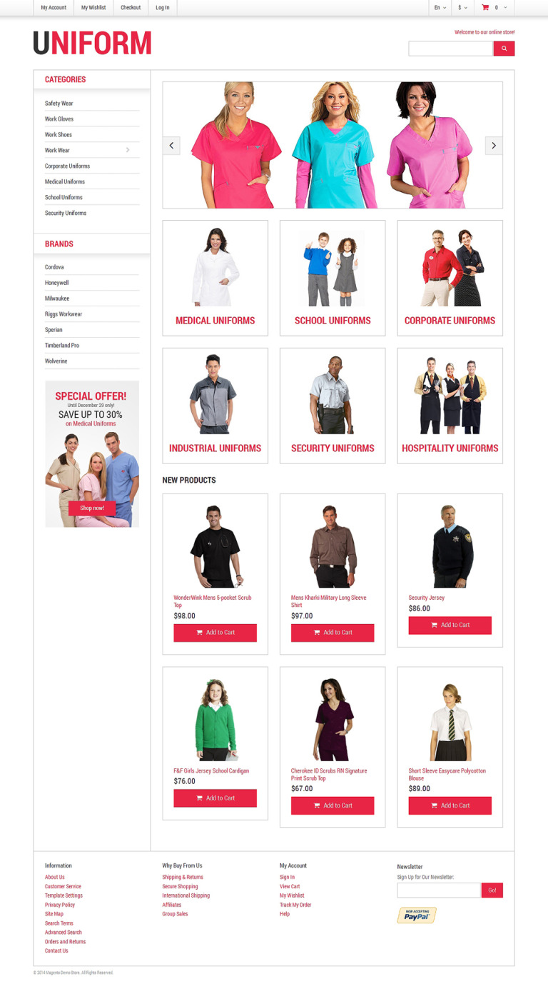 Security Responsive Magento Theme New Screenshots BIG