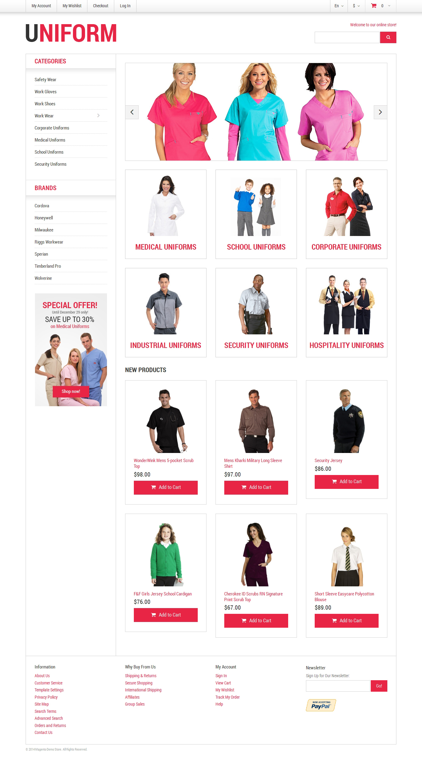Security Responsive Magento Theme - screenshot
