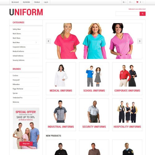 Uniform - Responsive Magento Template