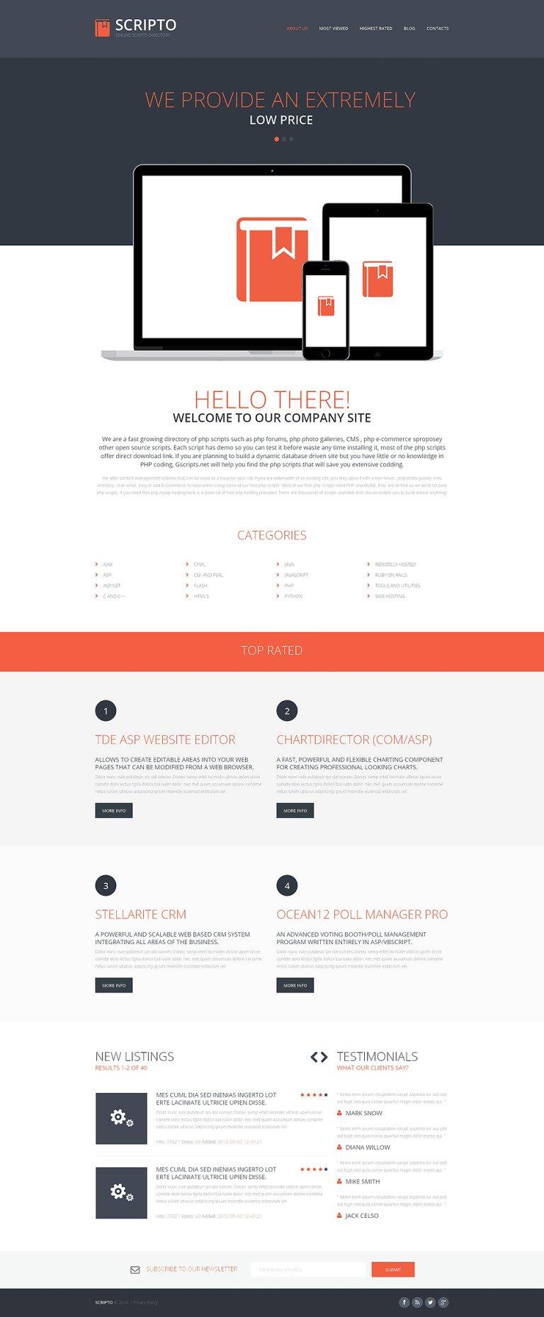 Software Company Responsive Website Template New Screenshots BIG