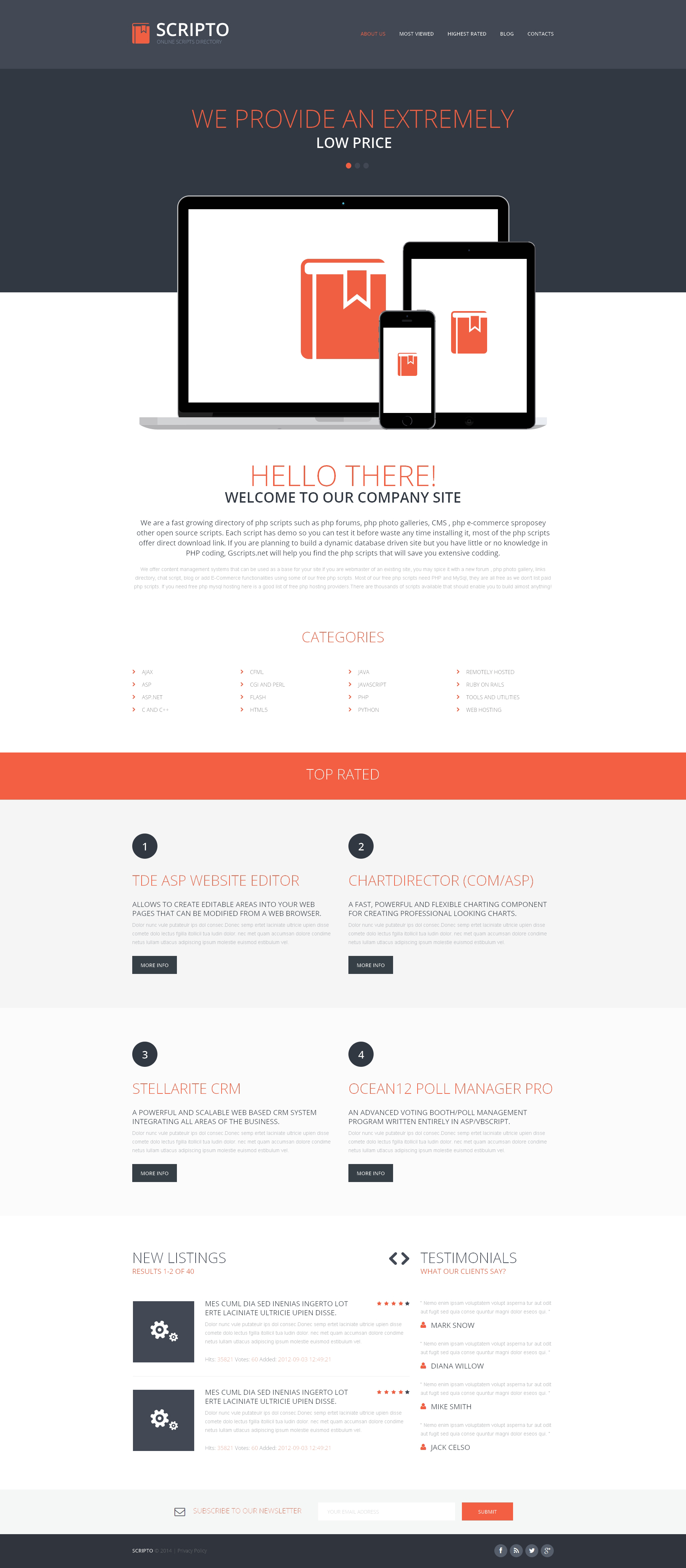 Software Company Website Templates