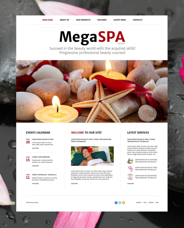 Spa Salon Joomla Template New Screenshots BIG