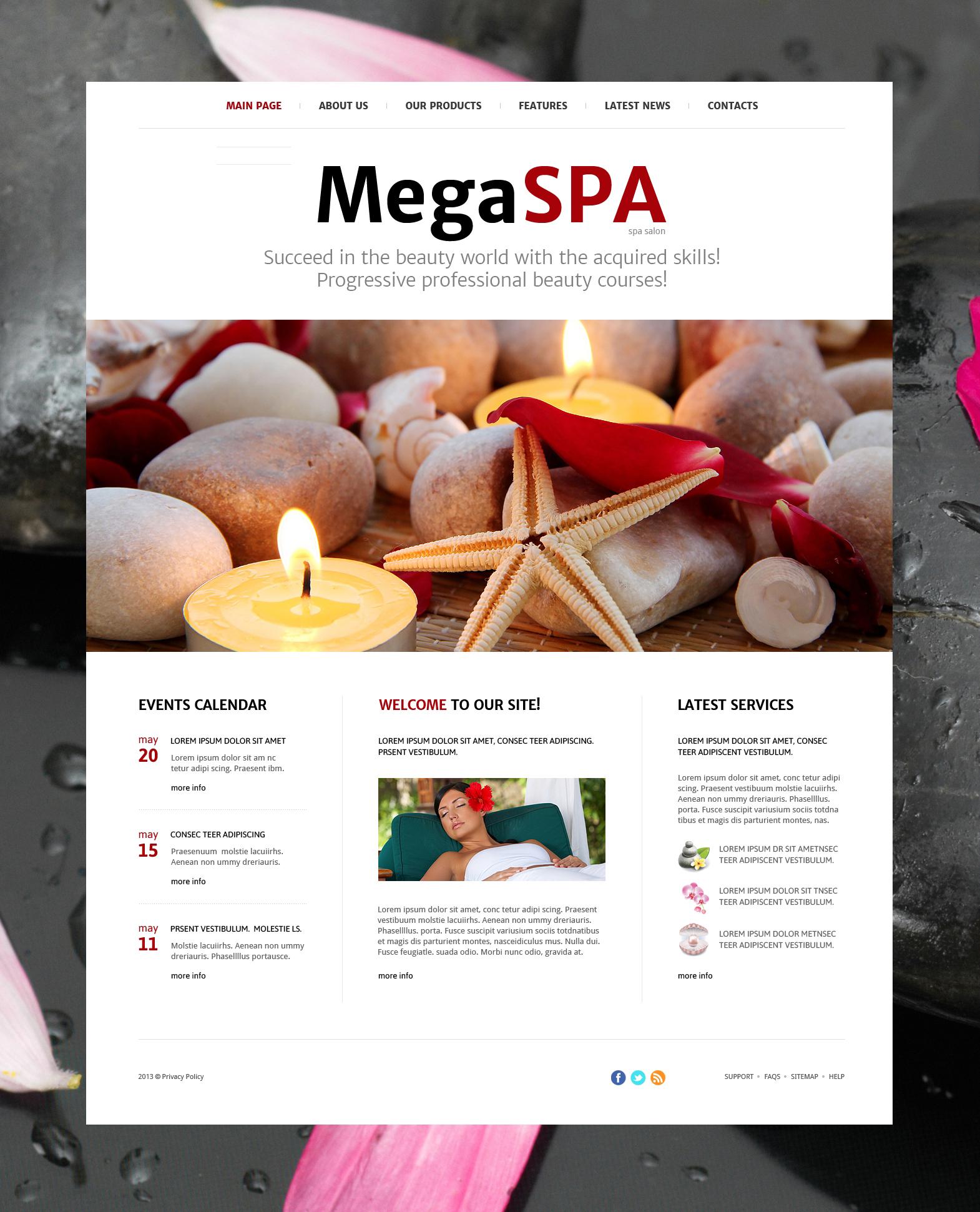 Spa Salon Joomla Template