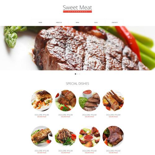 Sweet Meat - HTML5 Drupal Template