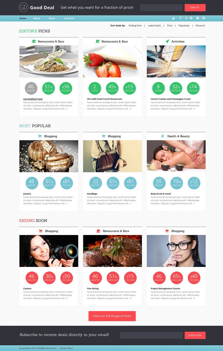 Stock Photo Responsive Website Template New Screenshots BIG