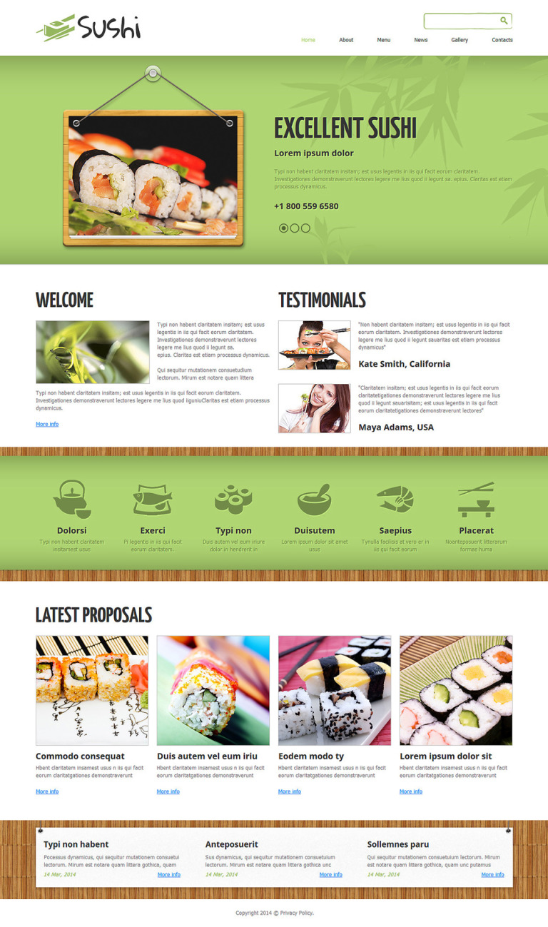 Sushi Bar Responsive Joomla Template New Screenshots BIG
