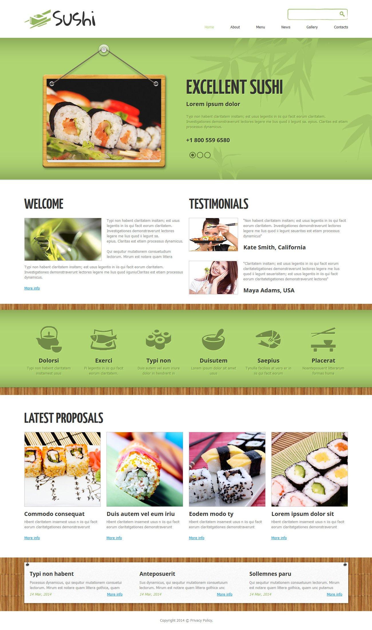 Sushi Bar Responsive Joomla Template