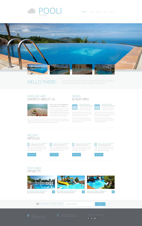 Swimming Pool Responsive Website Template