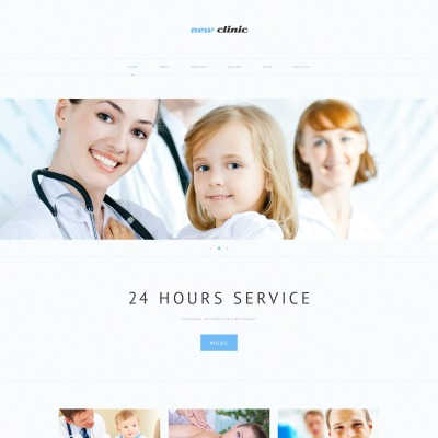 Responsive Tema De WordPress #48978 para Sitio de  para Sitio de Medicina