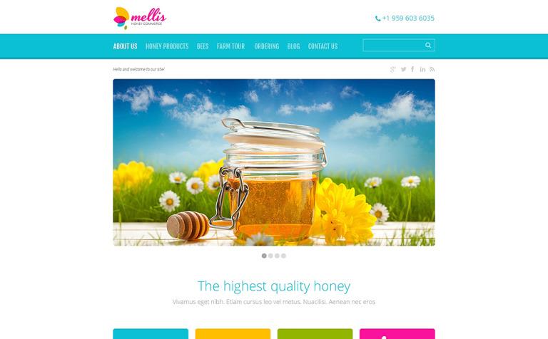 Tema de WordPress #48927 para Sitio de Tienda de Miel