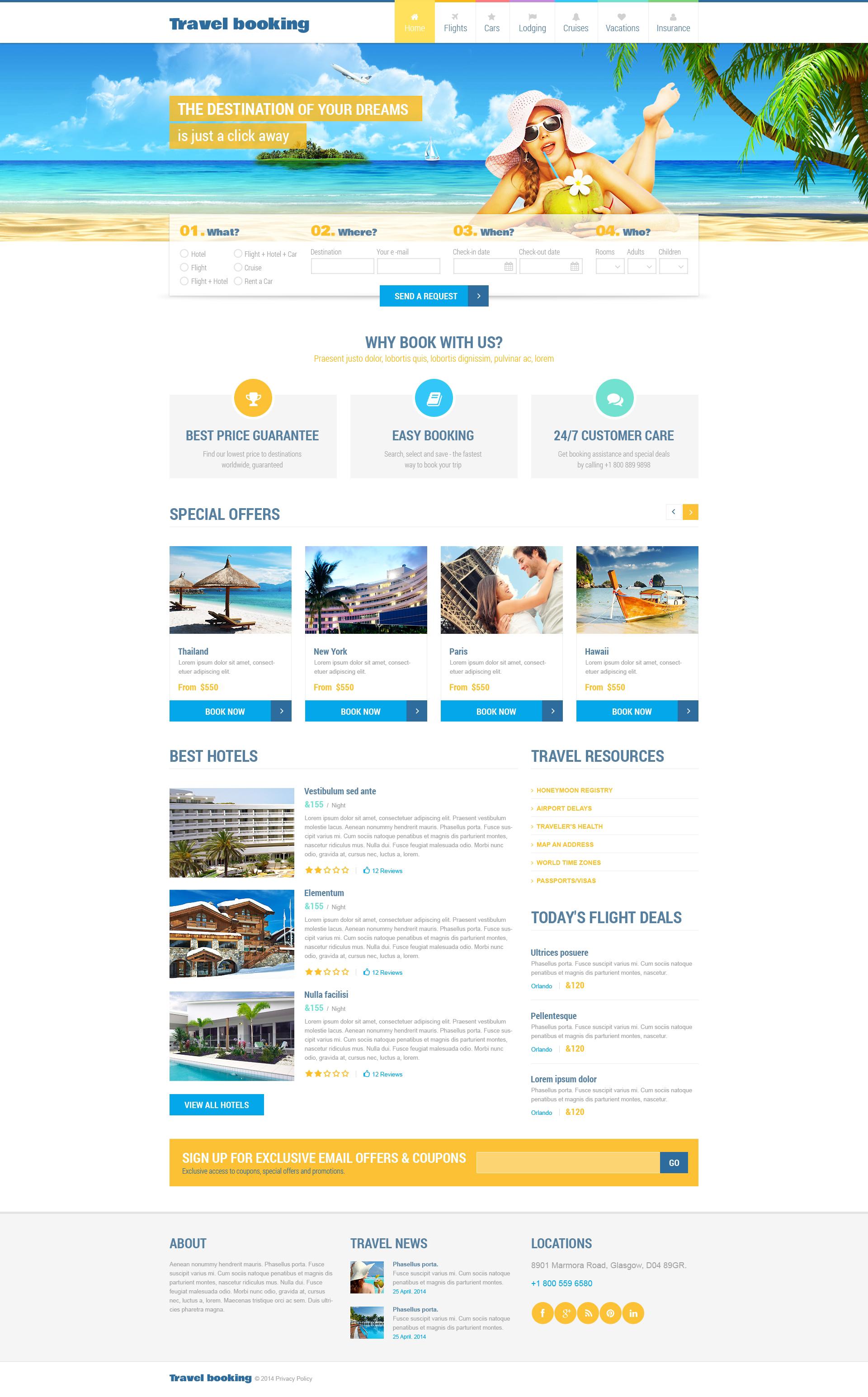 Template Web Flexível para Sites de Passagens Aereas №48987