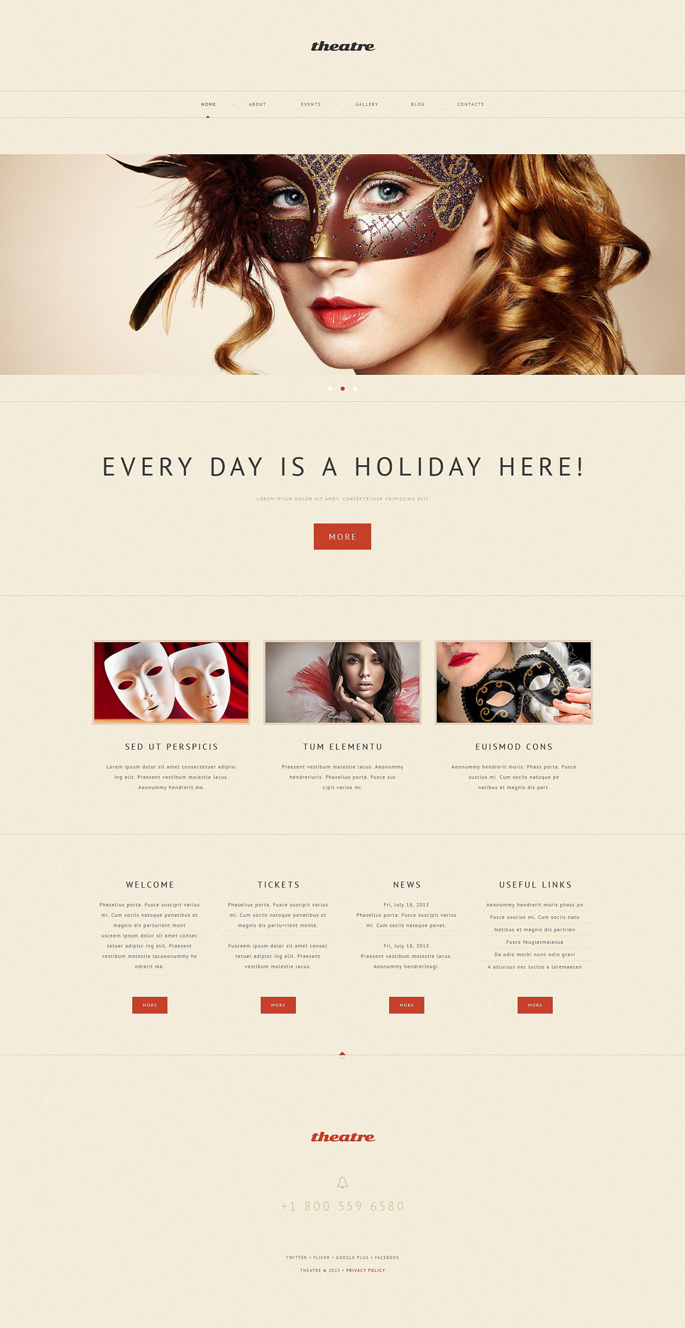 Theater Responsive WordPress Theme New Screenshots BIG