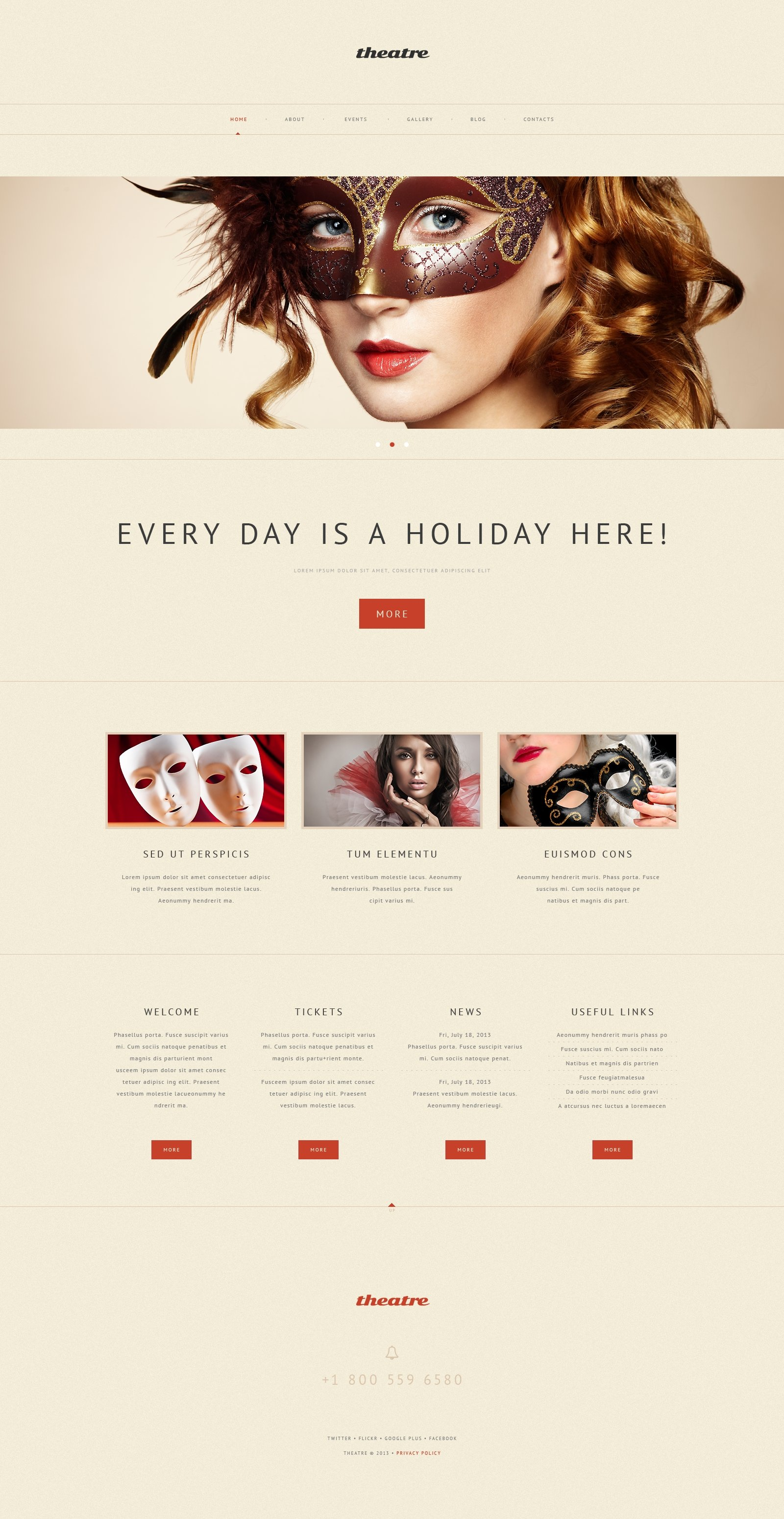 Theater Responsive WordPress Theme - screenshot