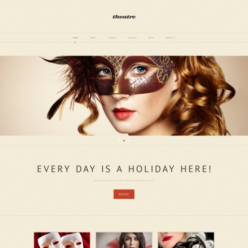 Theatre - WordPress Template based on Bootstrap