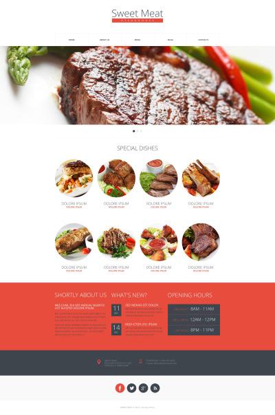 Thème Drupal  pour restaurant grill