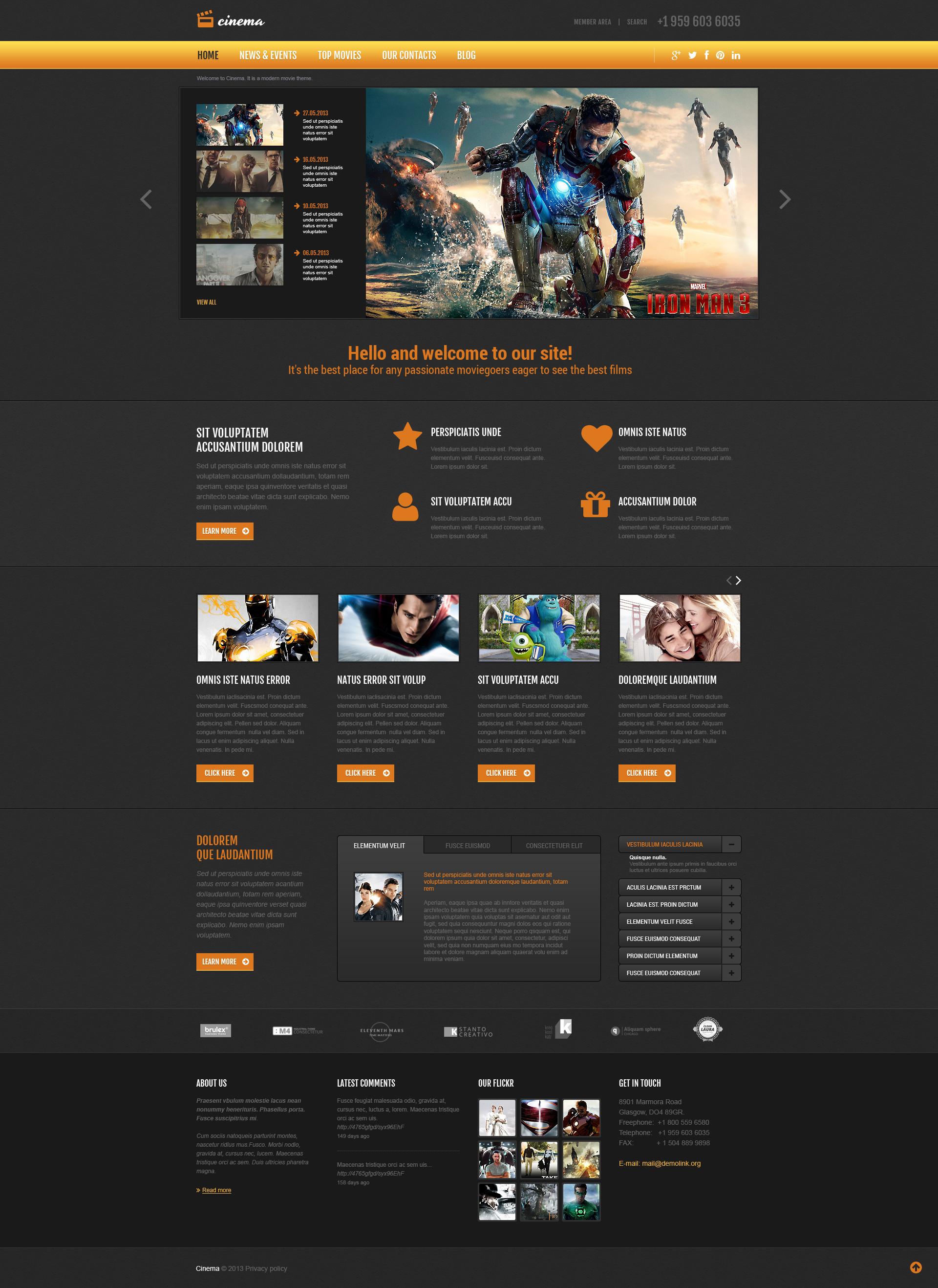 Thème Joomla adaptatif pour site de films #48962