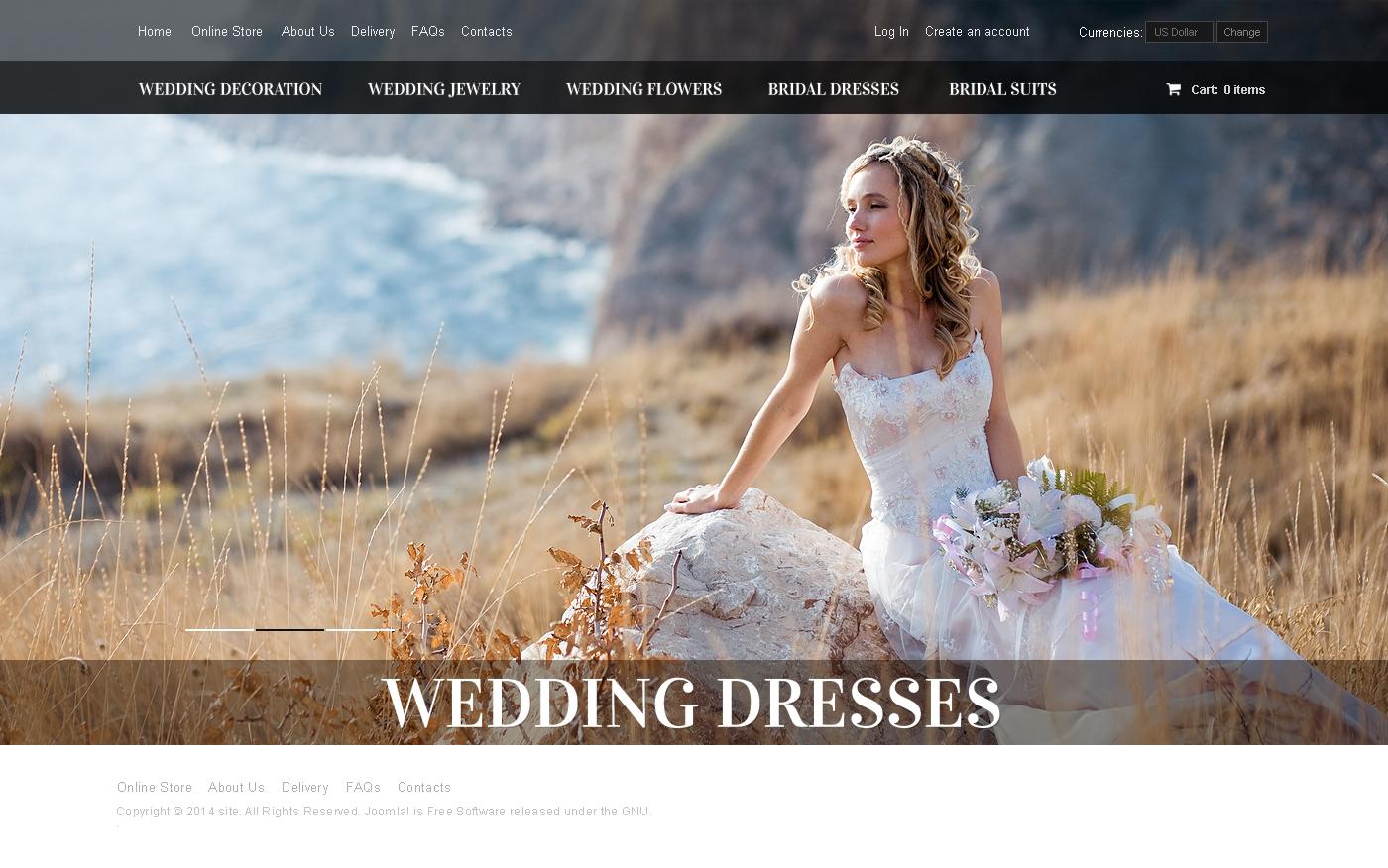 Thème VirtueMart pour site de boutique de mariage #48999