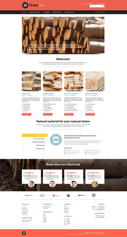 Timber Responsive Website Template New Screenshots BIG