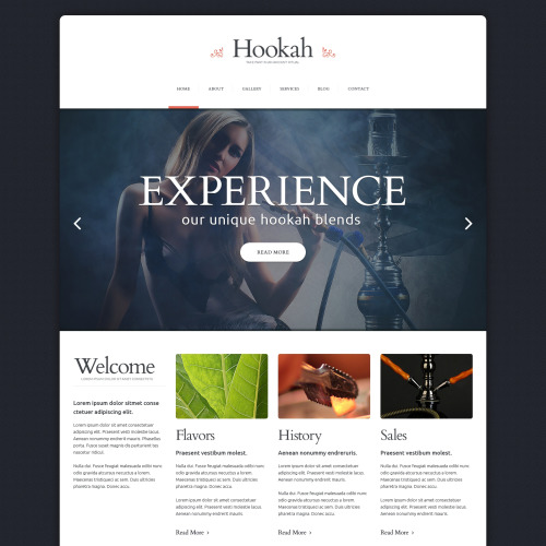 Hookah - Responsive Website Template