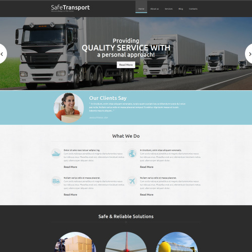Safe Transport - Transportation Company Template