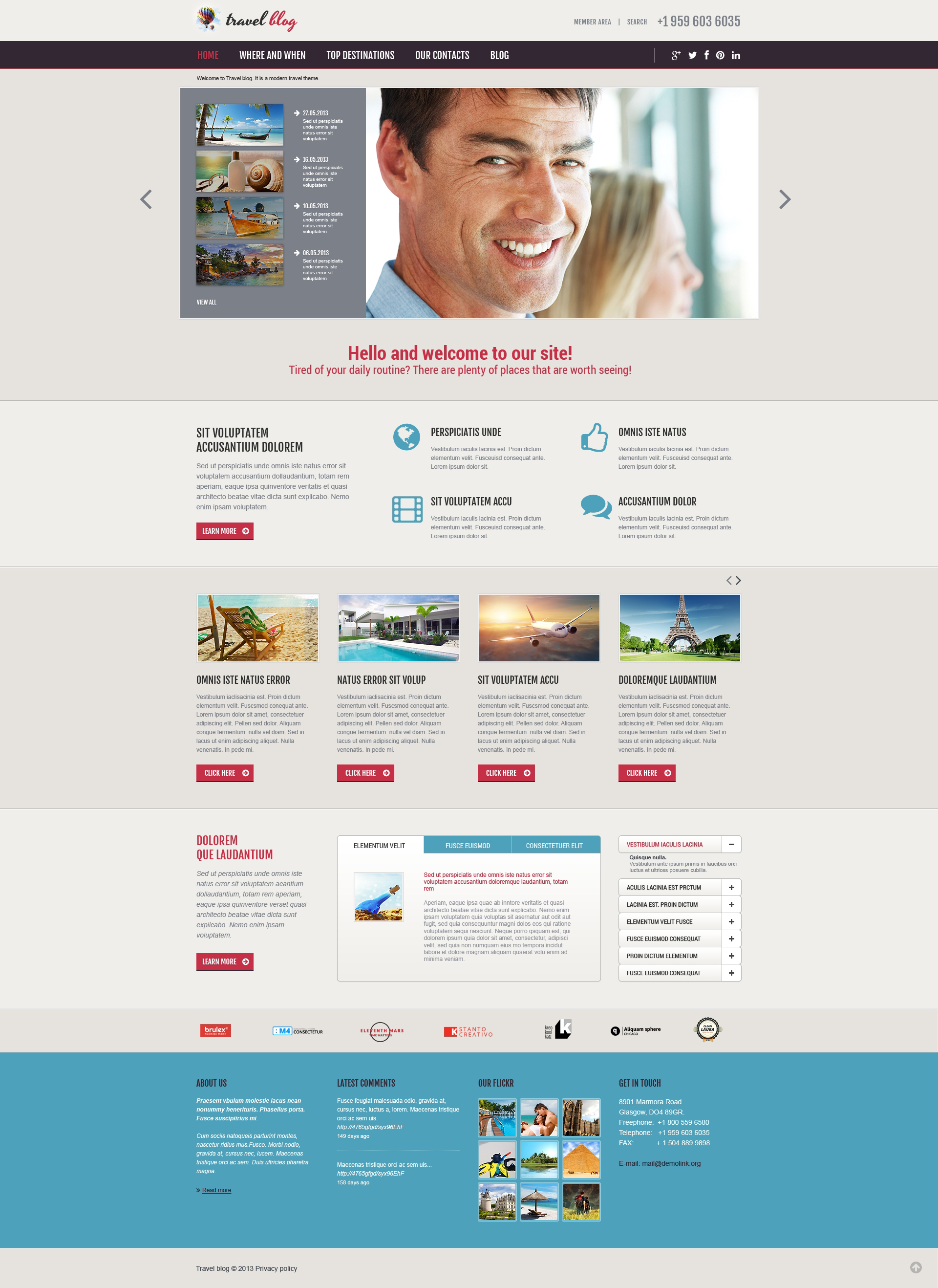 Travel Agency Responsive Joomla Template - screenshot
