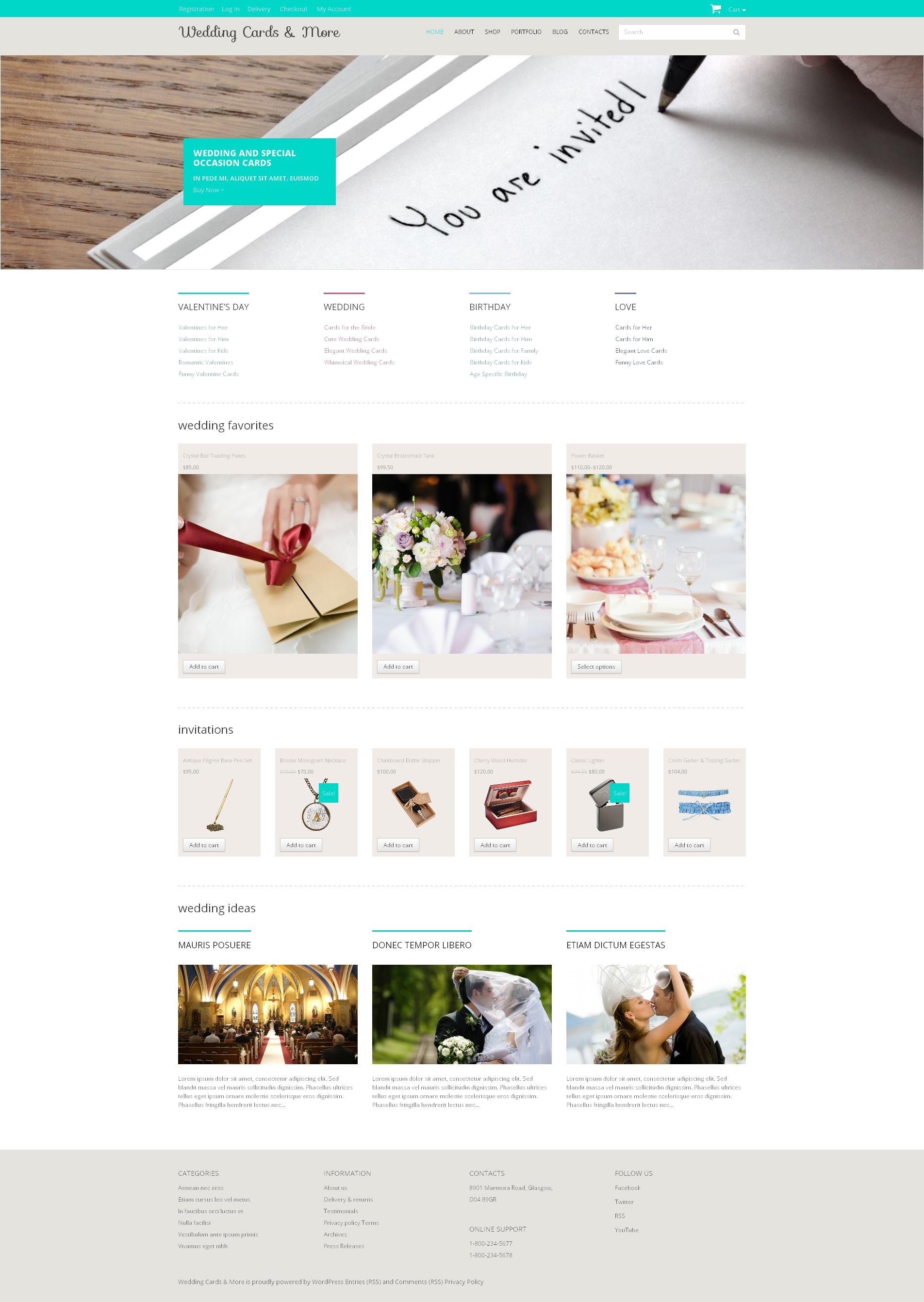 Wedding Shop Responsive WooCommerce Theme