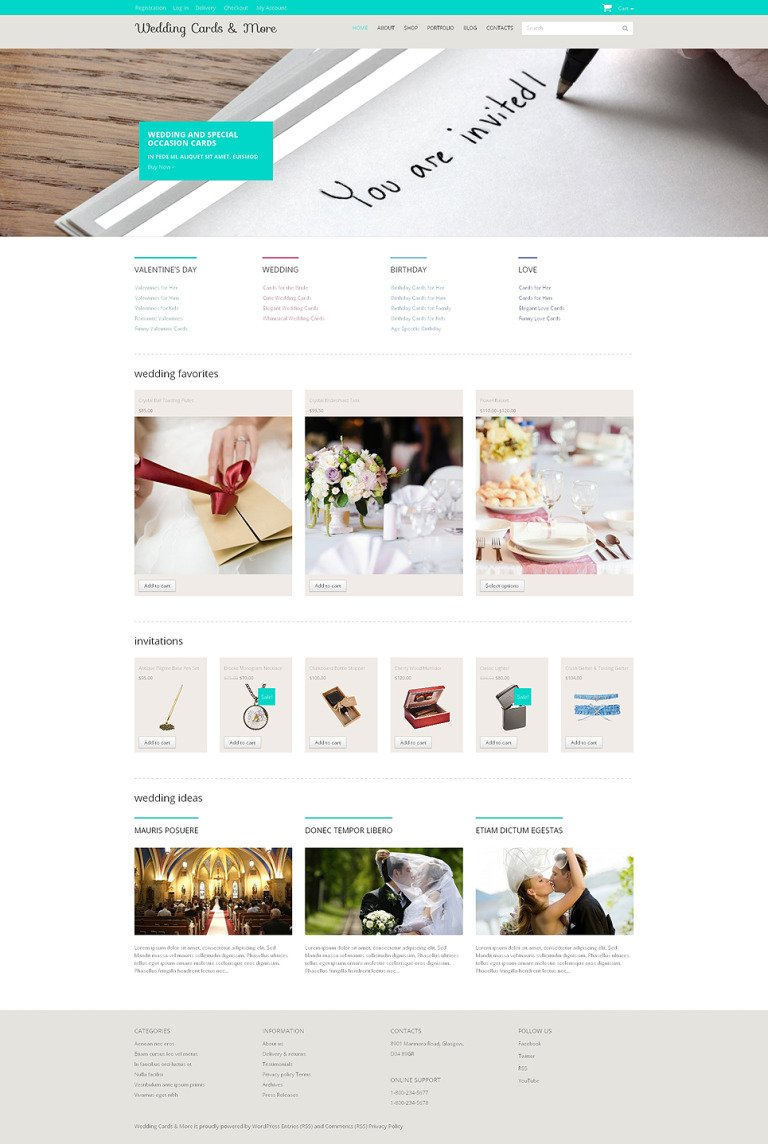 Wedding Venues Responsive WooCommerce Theme New Screenshots BIG