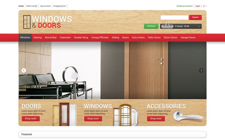 Windows Doors Store OpenCart Template