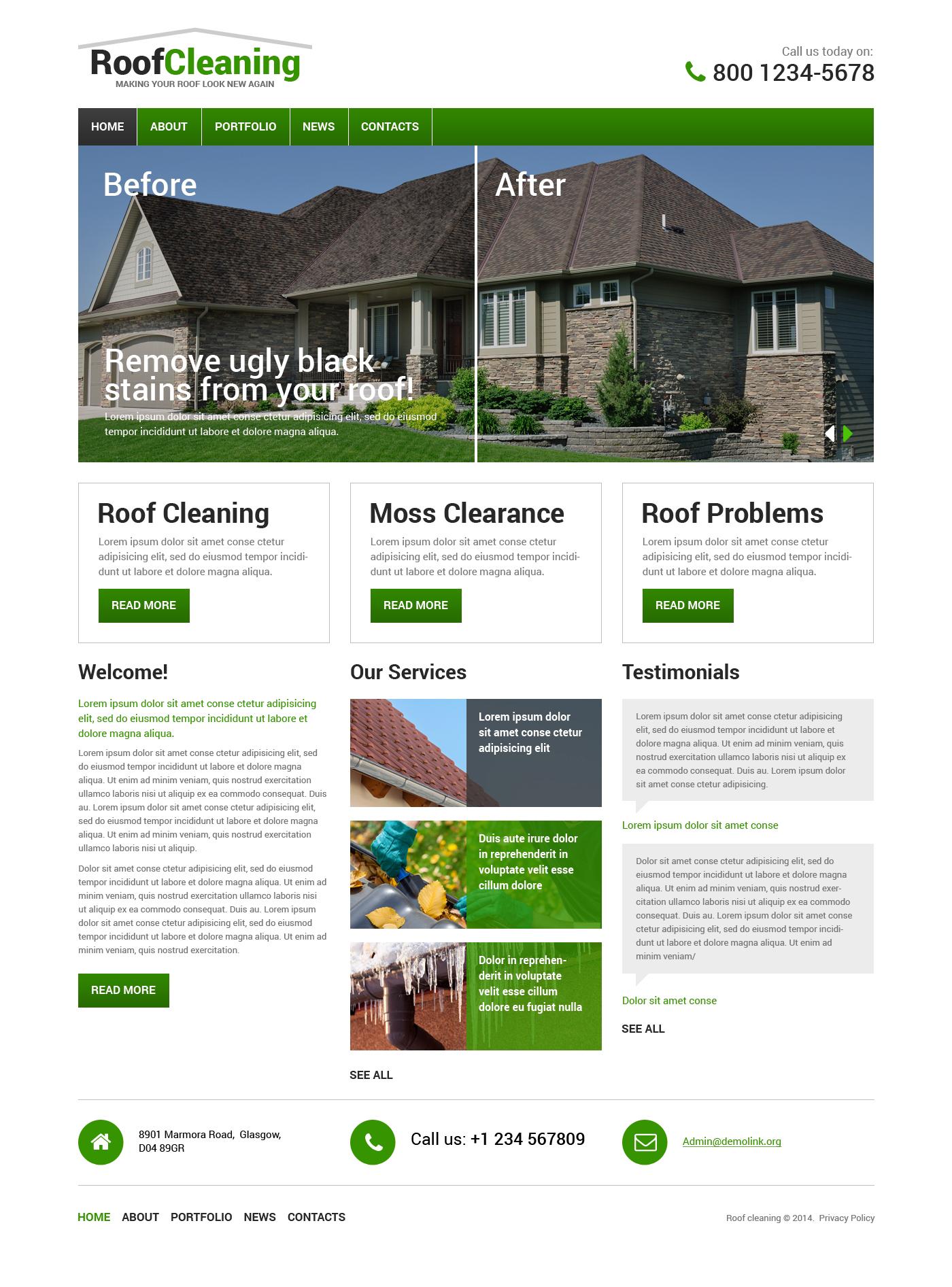 屋顶防水Drupal模板 #48976