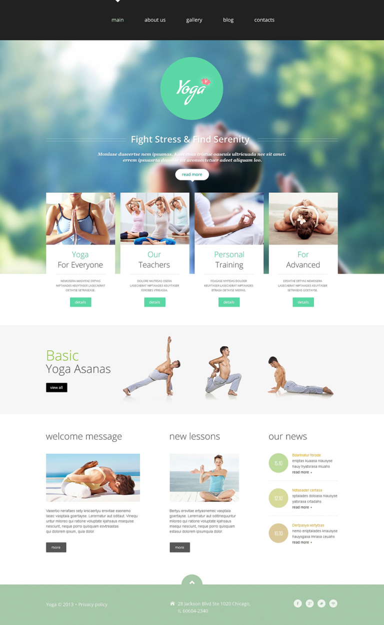 Yoga Club Joomla Template New Screenshots BIG