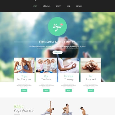 yoga club joomla template 45286