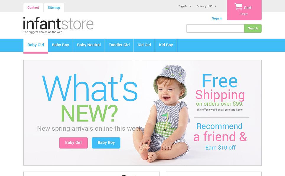 Responsive PrestaShop Thema over Kinderwinkel  New Screenshots BIG