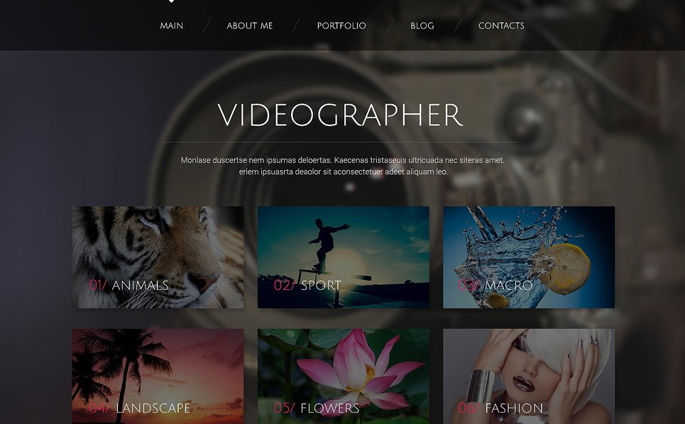 Reszponzív Videósok WordPress sablon New Screenshots BIG