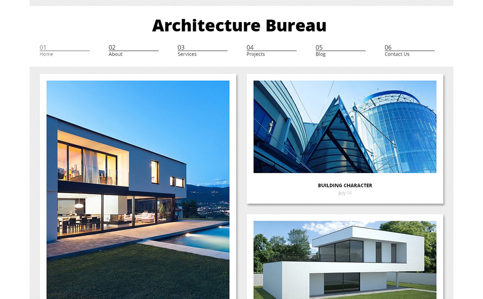Responsive WordPress thema over Architectuur New Screenshots BIG