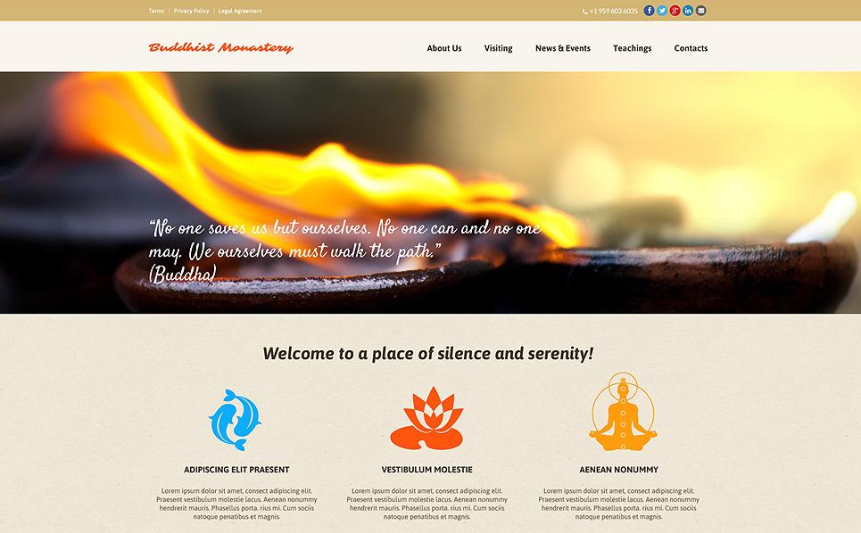 Responzivní Šablona webových stránek na téma Buddhismus New Screenshots BIG