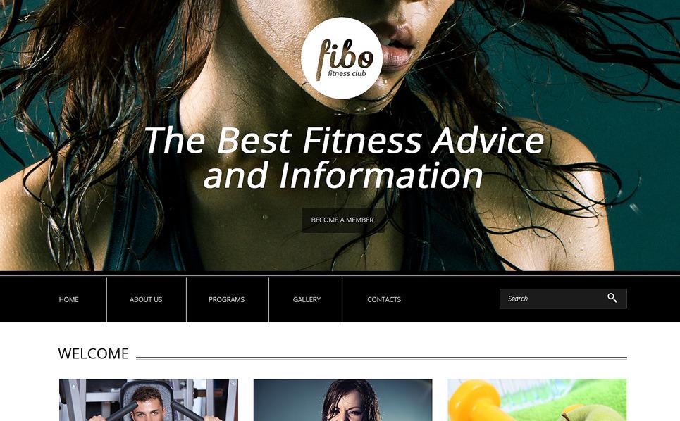 Modèle Web adaptatif  pour site de club de fitness New Screenshots BIG