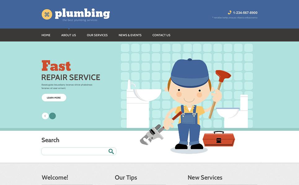 Szablon Drupal #49023 na temat: instalacje wodociągowe New Screenshots BIG