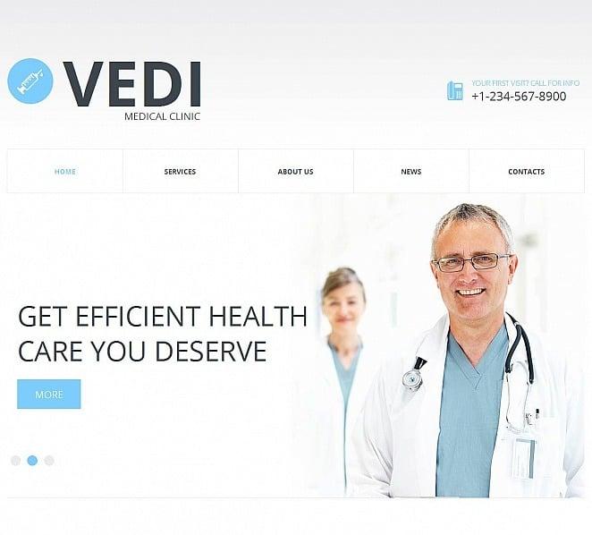 Modèle Moto CMS HTML  pour site médical New Screenshots BIG