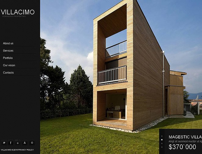Luxusní Moto CMS HTML šablona na téma Realitní kancelář New Screenshots BIG