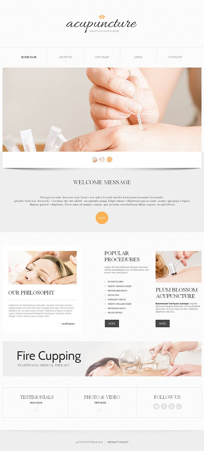 Acupuncture Treatment Website Design Done in Soft Colors - image