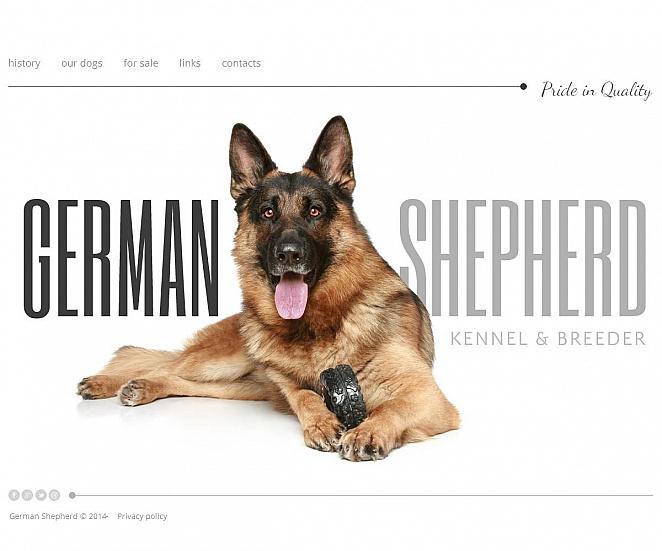 German Shepherd Dog Breeding Website Template - image